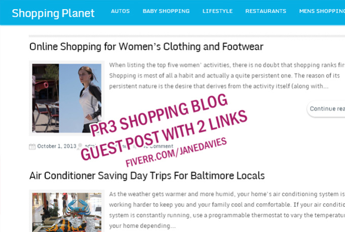 Hutify : I will post your article guest post on PR3 Shopping Fashion